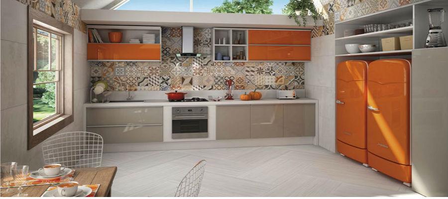 Acerte na composição com patchwork e ladrilho hidráulico  Ladrilhos Petrópolis # Decoracao De Cozinha Com Ladrilho Hidraulico