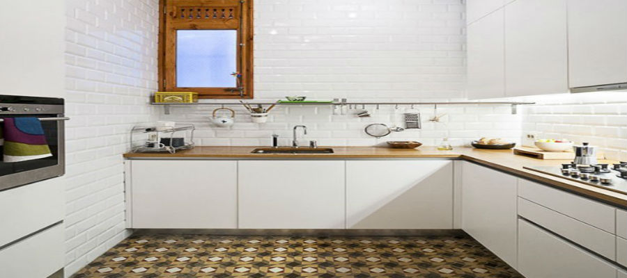 Cozinhas com o charme do ladrilho hidr ulico ladrilhos - Piso pequeno moderno ...